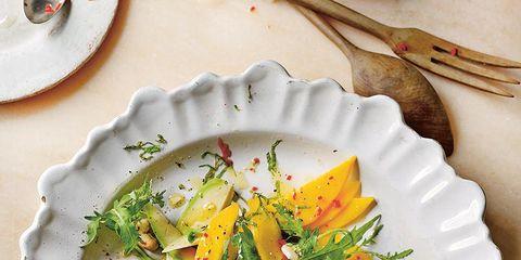 Dishware, Serveware, Food, Tableware, Cuisine, Plate, Salad, Kitchen utensil, Porcelain, Vegetable,