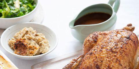 Food, Cuisine, Dish, Ingredient, Roast goose, Tableware, Recipe, Hendl, Cooking, Turkey meat,