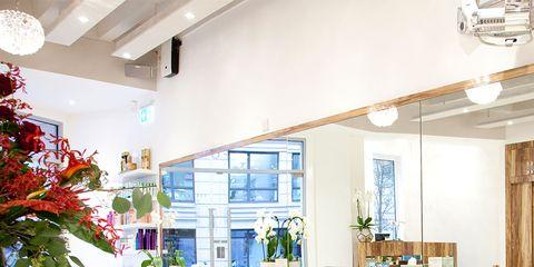 Lighting, Interior design, Room, Floor, Furniture, Ceiling, Chair, Office chair, Interior design, Light fixture,