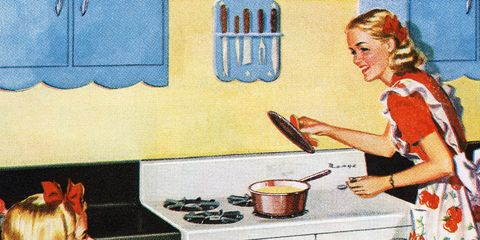 Drawer, Cook, Cabinetry, Kitchen, One-piece garment, Cooking, Kitchen appliance, Illustration, Major appliance, Kitchen utensil,