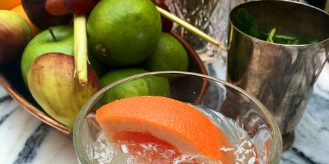 Liquid, Fluid, Citrus, Drink, Drinkware, Tableware, Classic cocktail, Fruit, Produce, Glass,