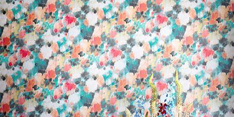 Blue, Textile, Interior design, Interior design, Bouquet, Turquoise, Creative arts, Teal, Flower Arranging, Cut flowers,