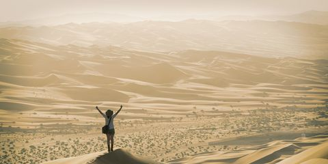 Natural environment, Landscape, Aeolian landform, Sand, Desert, Dune, Valley, Erg, Adventure, Wadi,