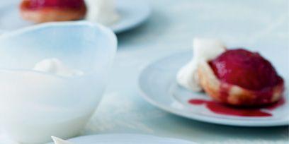 Serveware, Food, Dishware, Red, Ingredient, Plate, Tableware, Dish, Dessert, Cuisine,