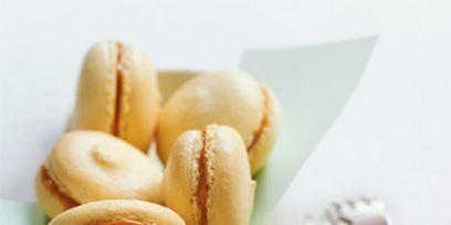 Finger food, Cuisine, Food, Ingredient, Macaroon, Baked goods, Dishware, Kitchen utensil, Dessert, Cutlery,