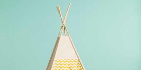 Triangle, Cone, Aqua, Teal, Turquoise, Clothes hanger, Symmetry, Paper, Lighting accessory, Creative arts,