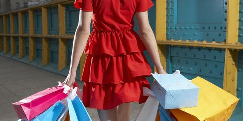 Clothing, Textile, Human leg, Dress, One-piece garment, Bag, Fashion, Day dress, Electric blue, Street fashion,