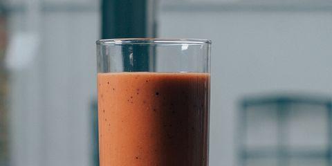 Liquid, Drink, Health shake, Juice, Vegetable juice, Food, Smoothie, Ingredient, Tableware, Peach,