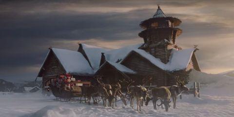 Winter, Atmosphere, Snow, Freezing, Atmospheric phenomenon, Dusk, Evening, Roof, House, World,