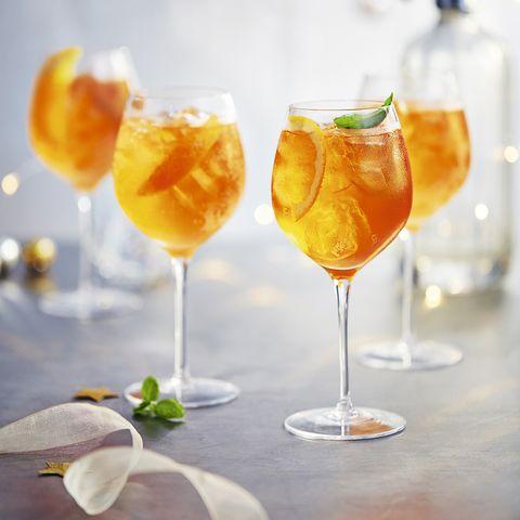Winter spritz cocktail