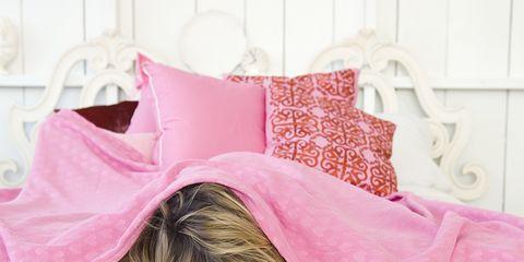 Pink, Product, Shoulder, Skin, Bedding, Bed sheet, Furniture, Textile, Pillow, Room,