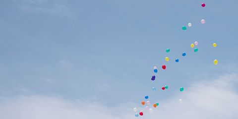 Blue, Colorfulness, Party supply, Pink, Balloon, Azure, Aqua, Electric blue, Meteorological phenomenon, Toy,