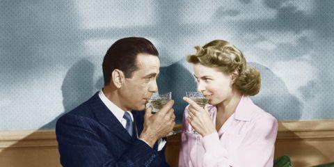 Bottle, Glass bottle, Sharing, Conversation, Wine bottle, Tie, White-collar worker, Waste container, Gesture, Couch,