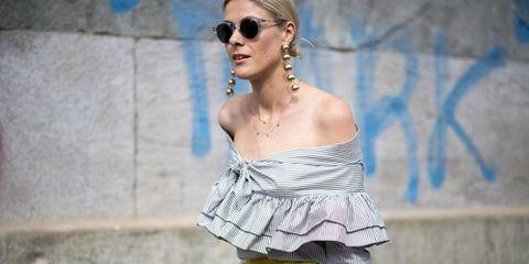 Eyewear, Ear, Jewellery, Earrings, Sunglasses, Goggles, Style, Street fashion, Fashion accessory, Necklace,