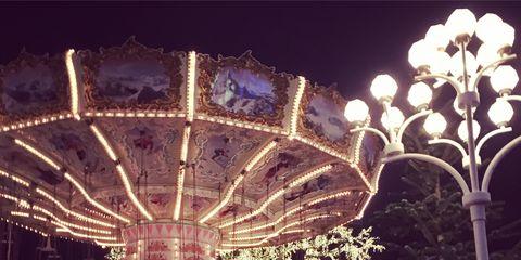 Lighting, Night, Landmark, Light, Midnight, Street light, Electricity, Amusement ride, Amusement park, Decoration,