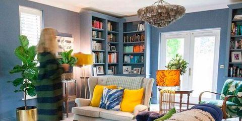 Green, Room, Interior design, Floor, Home, Furniture, Flooring, Shelf, Living room, Interior design,