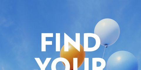 Daytime, Balloon, Font, Azure, Heart, Party supply, Graphics, Love, Meteorological phenomenon, Advertising,