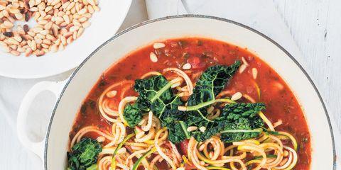 Food, Cuisine, Ingredient, Dish, Soup, Noodle, Recipe, Tableware, Garnish, Condiment,