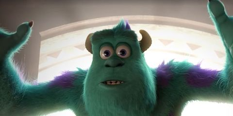 Green, Fictional character, Jaw, Colorfulness, Teal, Terrestrial animal, Snout, Fur, Animation, Toy,