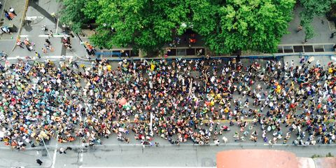 Crowd, People, Public space, Urban area, Community, City, Street, Urban design, Pedestrian, Thoroughfare,