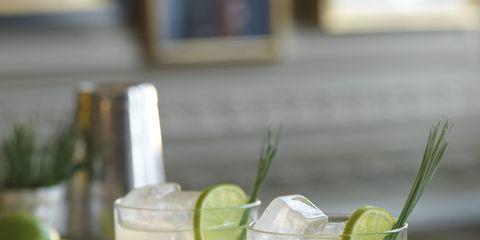 Green, Liquid, Drink, Fluid, Ingredient, Citrus, Classic cocktail, Produce, Lemon, Glass,