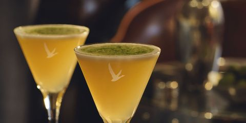 Drink, Drinkware, Glass, Tableware, Stemware, Classic cocktail, Martini glass, Cocktail, Alcoholic beverage, Ingredient,