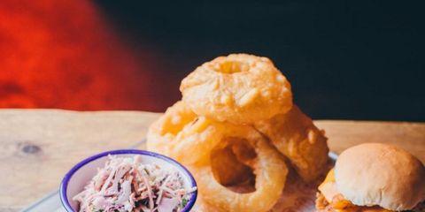 Food, Cuisine, Finger food, Dish, Ingredient, Tableware, Baked goods, Sandwich, Fast food, Bun,