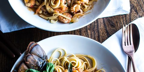 Pasta, Food, Cuisine, Ingredient, Dishware, Kitchen utensil, Tableware, Recipe, Dish, Cutlery,