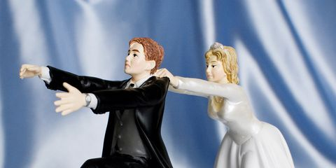 Standing, Interaction, Gesture, Gown, Wedding dress, Love, Toy, Bride, Bridal clothing, Fictional character,