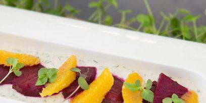 Food, Garnish, Culinary art, Cuisine, Dishware, Crudo, À la carte food, Dish, Sweetness, Fish slice,