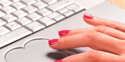 Finger, Electronic device, Office equipment, Nail, Red, Technology, Laptop part, Pink, Nail care, Manicure,