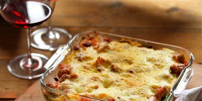Food, Dish, Ingredient, Tableware, Baked goods, Recipe, Cutlery, Casserole, Cuisine, Kitchen utensil,