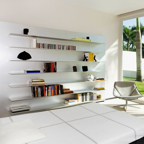 Shelf, Shelving, Furniture, White, Room, Bookcase, Interior design, Property, Living room, Building,