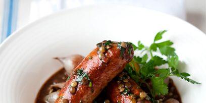 Food, Ingredient, Meat, Sausage, Dishware, Dish, Recipe, Cooking, Serveware, Kielbasa,