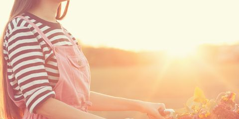 People in nature, Light, Sunlight, Backlighting, Yellow, Pink, Summer, Sky, Lens flare, Photography,