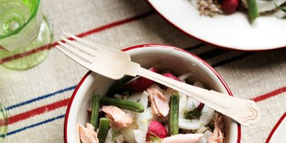 Dishware, Food, Cuisine, Serveware, Tableware, Ingredient, Kitchen utensil, Salad, Dish, Cutlery,