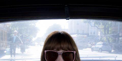 Eyewear, Glasses, Vision care, Lip, Goggles, Hairstyle, Sunglasses, Fashion accessory, Beauty, Street fashion,