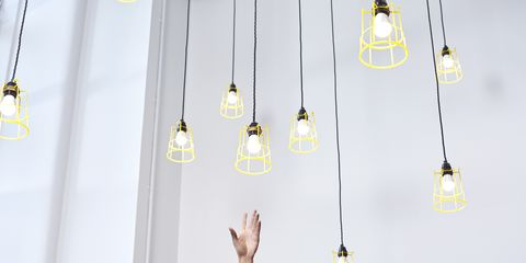 White, Yellow, Line, Fashion accessory, Jewellery, Metal, Ceiling,