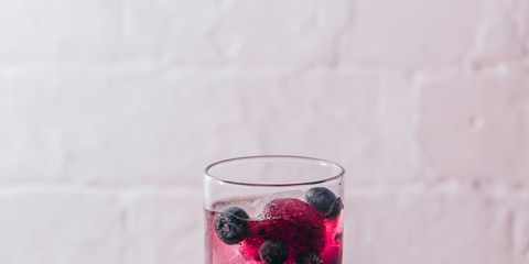 Highball glass, Drink, Non-alcoholic beverage, Pink, Woo woo, Cranberry juice, Blackberry, Food, Juice, Cocktail,
