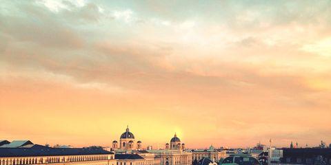 City, Dusk, Urban area, Landmark, Evening, Roof, Sunset, Morning, Sunrise, Afterglow,