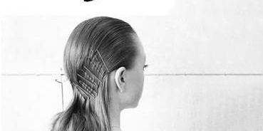 Hair, Hairstyle, White, Shoulder, Black-and-white, Beauty, Chin, Long hair, Neck, Blond,