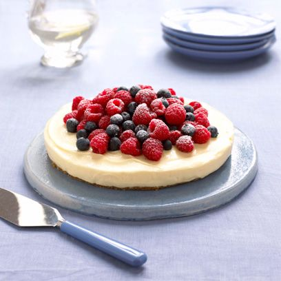 Mary Berrys Lemon Cheesecake On A Ginger Crust