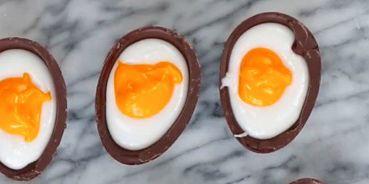 Egg yolk, Orange, Food, Ingredient, Breakfast, Egg, Egg, Egg white, Finger food, Recipe,