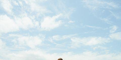 Sky, Cloud, Elbow, Happy, Rejoicing, People in nature, Leisure, Ocean, Vacation, Travel,