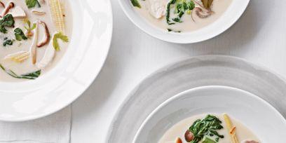 Food, Cuisine, Dishware, Ingredient, Dish, Recipe, Tableware, Garnish, Culinary art, Soup,