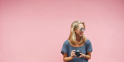 Pink, Blue, Yellow, Blond, Shoulder, Fun, Human, Joint, Photography, Jeans,