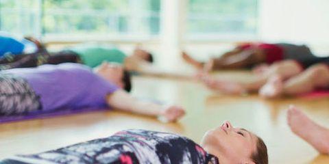 Room, Human leg, Exercise, Physical fitness, Purple, Flooring, Wrist, Knee, Thigh, Abdomen,