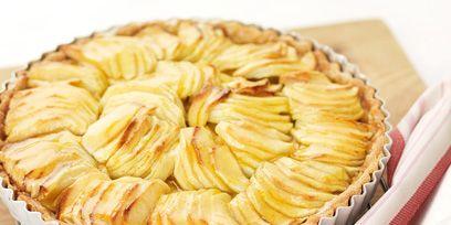Yellow, Food, Dish, Recipe, Kitchen utensil, Baked goods, Dessert, Snack, Cutlery, Sweetness,