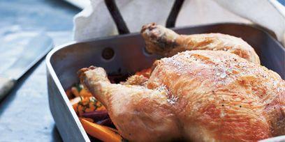 Food, Hendl, Turkey meat, Cooking, Dish, Meat, Chicken meat, Roasting, Roast goose, Recipe,