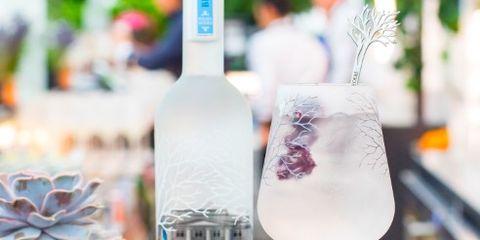 Drink, Product, Purple, Alcoholic beverage, Distilled beverage, Liqueur, Glass bottle, Wine cocktail, Wine bottle, Bottle,